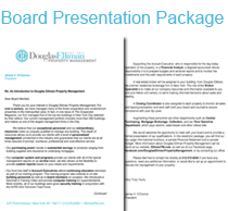 Board Presentation Package